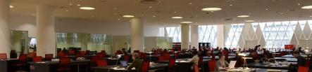 Salle de lecture des Archives nationales du site de Pierrefitte-sur-Seine